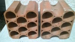 casier bouteille en terre cuite 8 trous