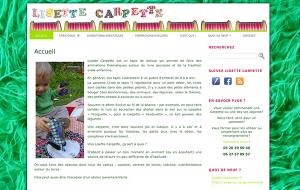 Site de Lisette Carpette réalisé sous WordPress