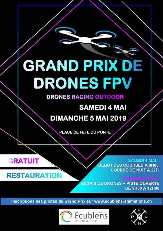 Une course de drone à Ecublens !