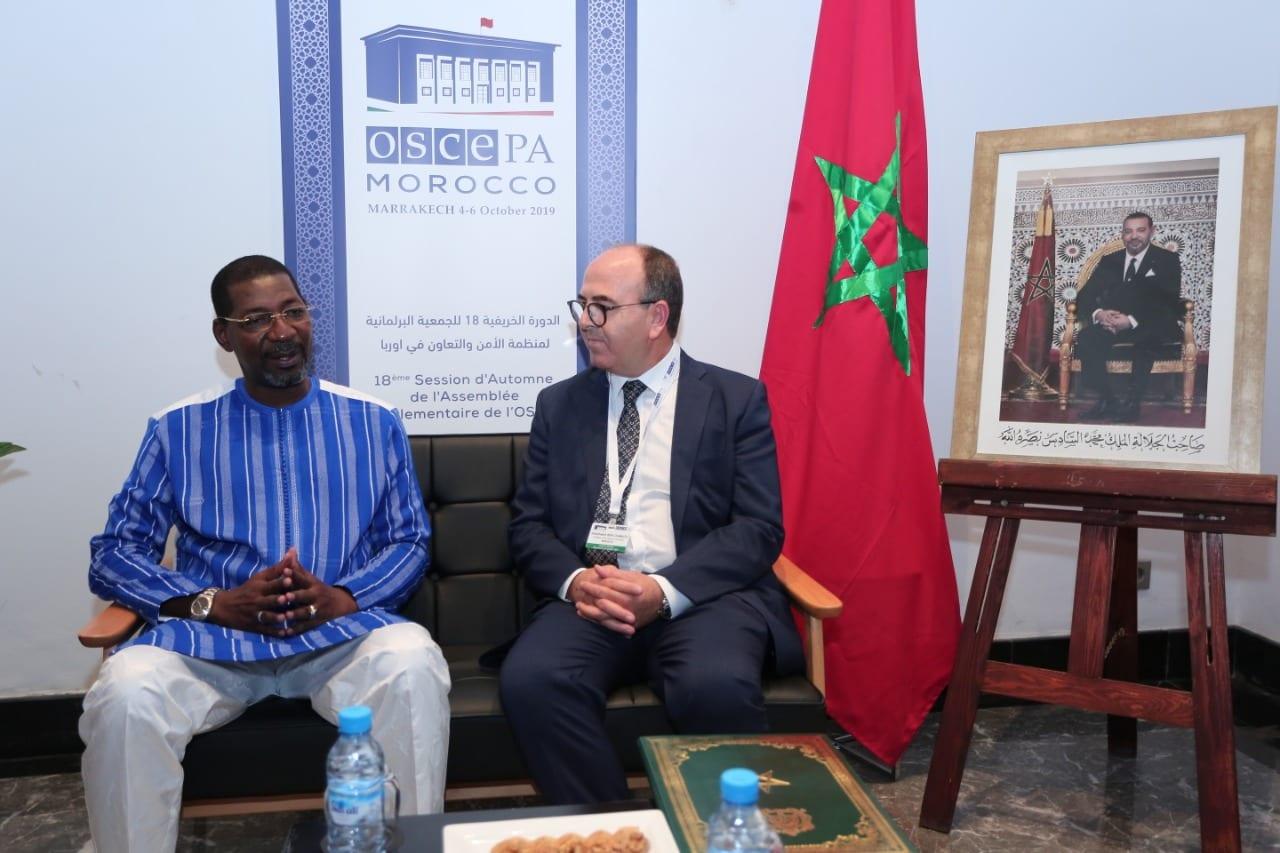 بنشماش رفقة رئيس برلمان المجموعة الاقتصادية لدول غرب إفريقيا مصطفى سيسي لو
