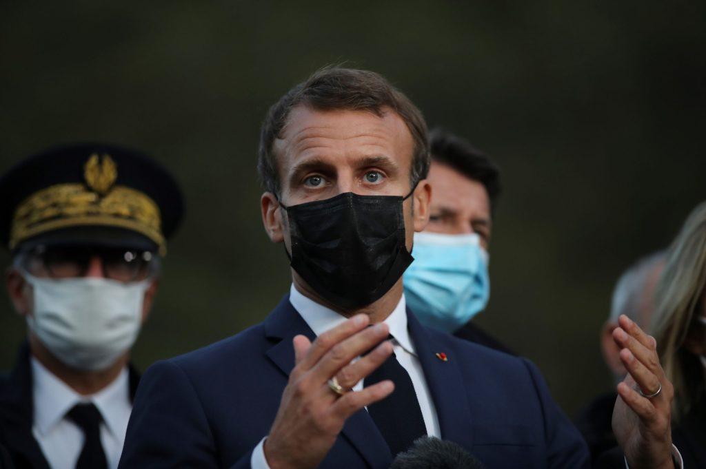 Emmanuel Macron le 7 octobre 2020. Crédits: DANIEL COLE / AFP