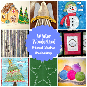 Masterpiece Society's Winter Wonderland Mixed Media Workshop - a great resource for teaching art at your homeschool co-op!