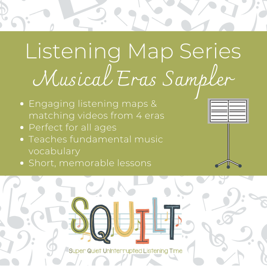 The SQUILT Listening Map Series helps your children learn more about classical music.