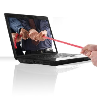 Laptop rope pulling