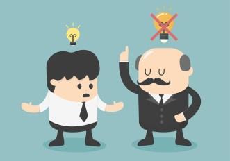 Boss Dislike The Ideas Vector