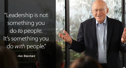Ken Blanchard Quote Leadership with People
