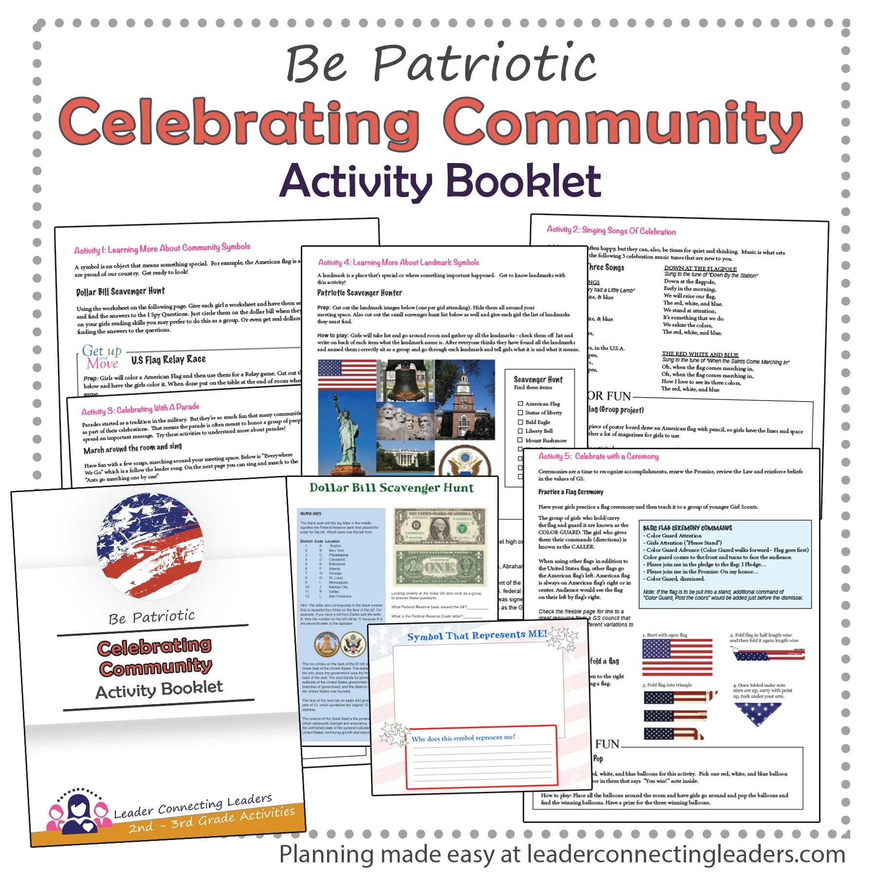 Celebrating Community Activity Booklet