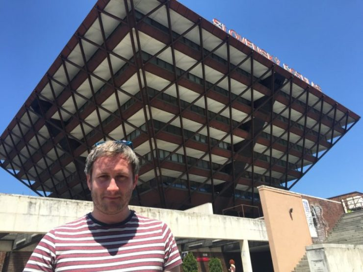 Keith at the Slovak Radio Building