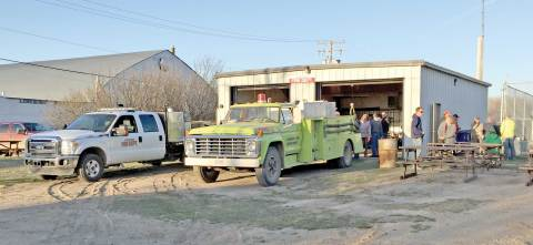 Around 100 people attended a barbecue hosted by the Loreburn Volunteer Fire Department on April 20.