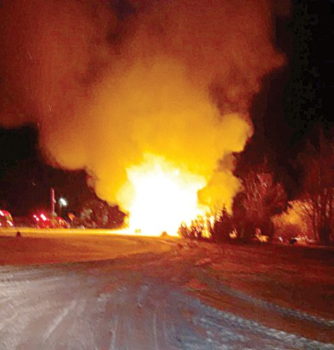The Pavelich farmhouse northeast of Kenaston was destroyed by fire March 8.