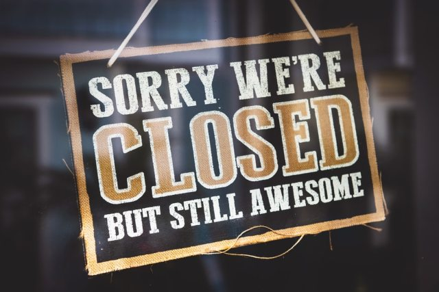 Sorry we're closed by still awesome