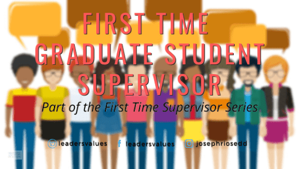 First time graduate student supervisor