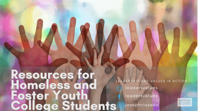 Resources for Homeless and Foster Youth College Students