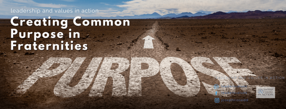 Creating Common Purpose in Fraternities