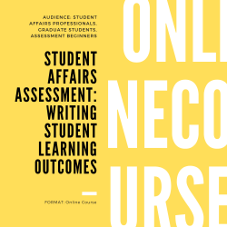 Student Affairs Assessment – Writing Student Learning Outcomes