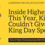 Inside Higher Ed: This Year, King Couldn't Give a King Day Speech