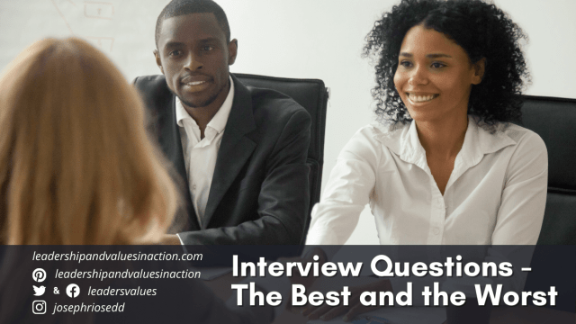 Interview Questions - The Best and the Worst