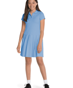 de57aa78b8253 Girl's Short Sleeve Pique Polo Dress