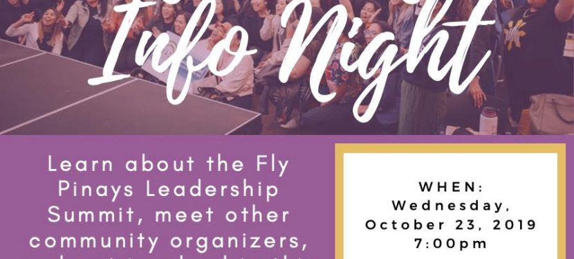 2020 Fly Pinays Info Night