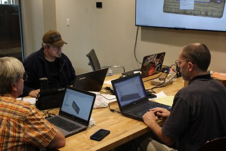 Montgomery County (Indiana) CTE instructors taking part in Leading Edge Industrial's 2-Day CAD/CAM Workshop