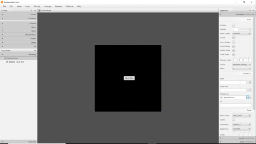 You can manipulate the color of your anchor pane when you link a css file to it