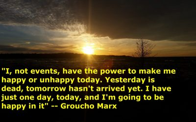 Tomorrow is not guaranteed