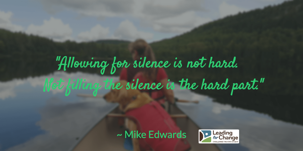 Listening in the silence