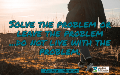 Stop creating problems for yourself