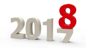 2017-2018 change represents the new year 2018