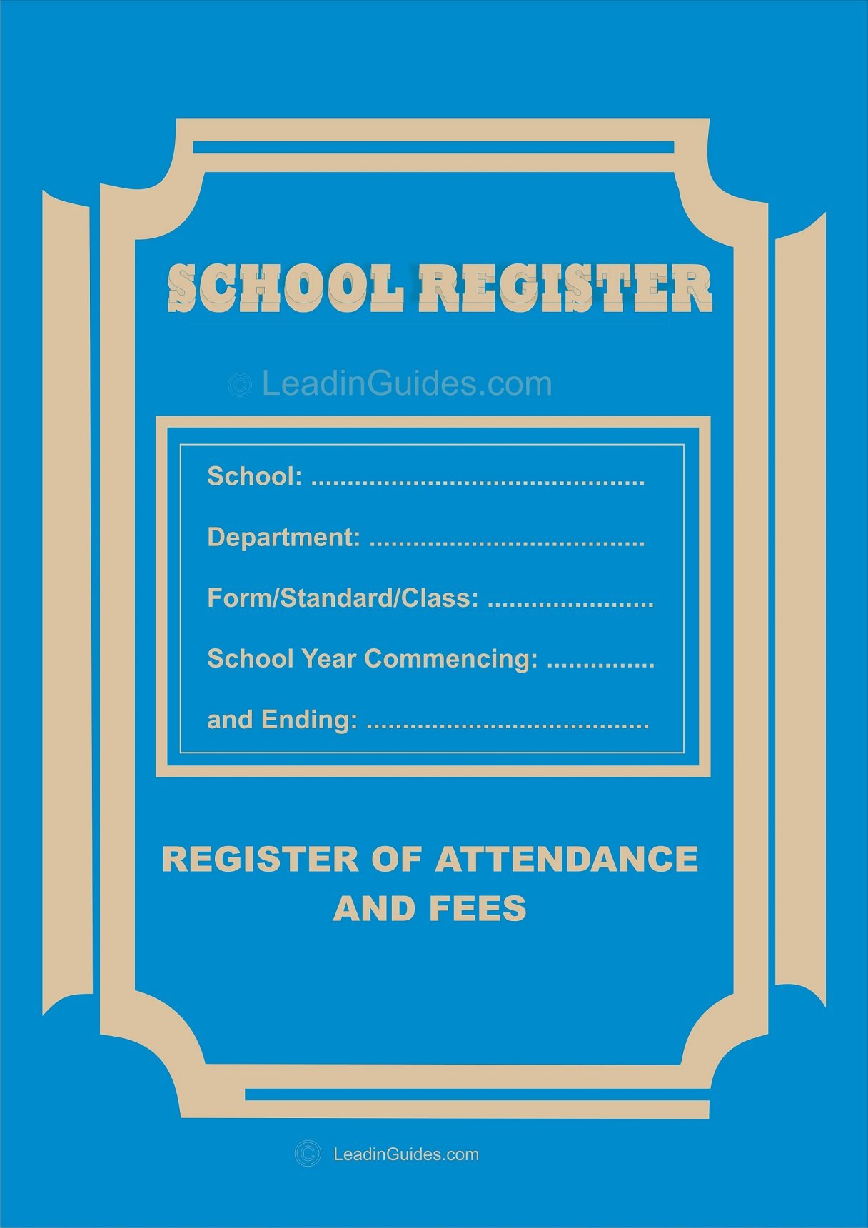Traditional School Attendance Register