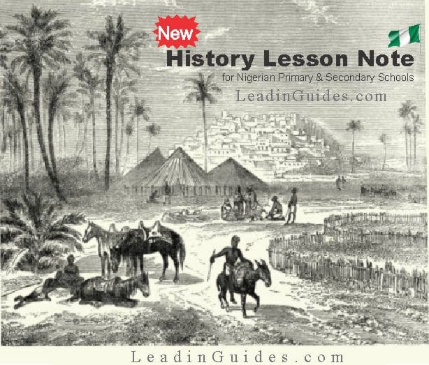 Lesson Note – Primary 1 First Term History Week 2