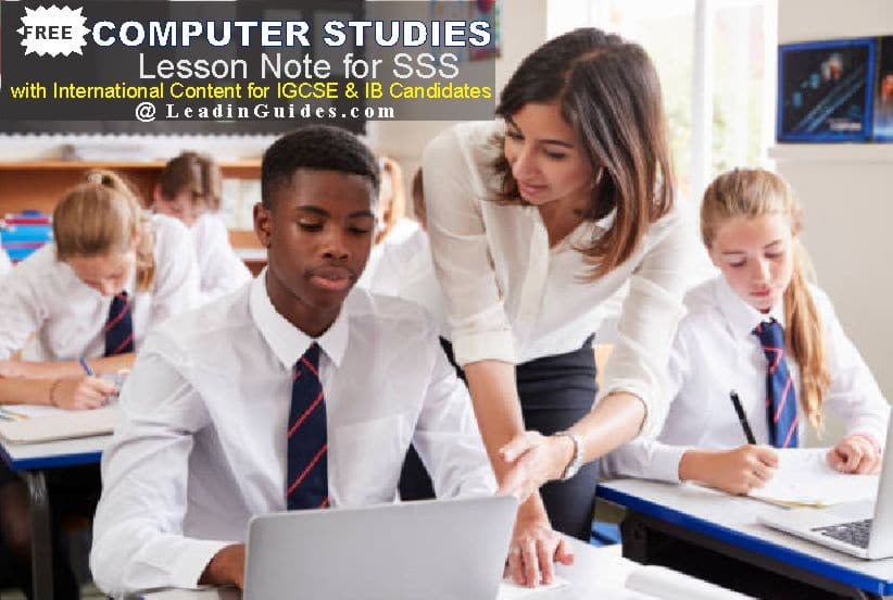 Lesson Note – SSS 1 First Term Computer Studies Week 1