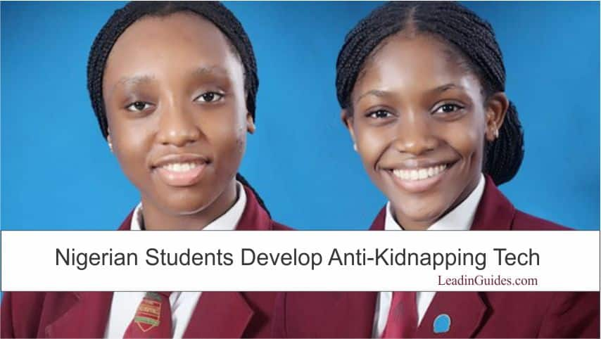 Nigerian Students Developed Anti-Kidnapping Tech