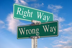 Right-way-wrong-way
