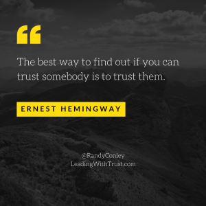 Hemingway Quote - Trust Someone