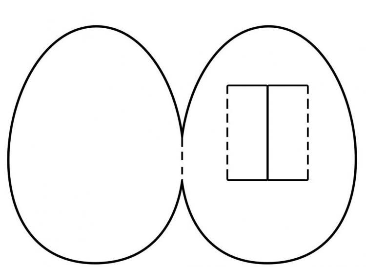 Открытка на пасху шаблон
