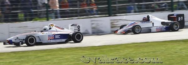 Beide Fahrzeuge des Teams // P. Bachor und H. Laumen © Frank Doraus (ovalrace.com)