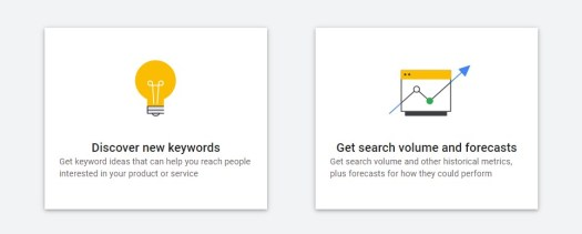 Google Keyword Planner Get search volume and forecast tool