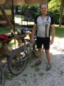 Happy, but delirious after 50 miles of KY mountain biking