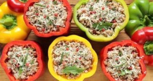 Mexican Recipes Veggie and Rice Stuffed Bell Peppers