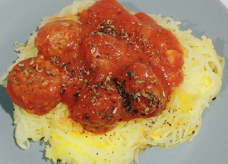 Lower Carb Spaghetti and Meatballs