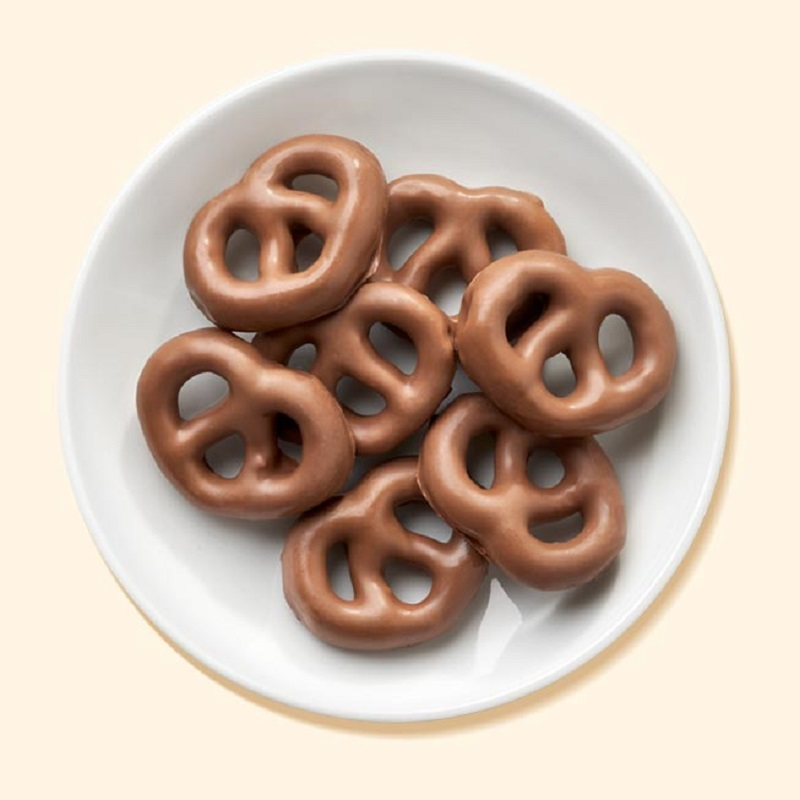 chocolate flavored pretzels
