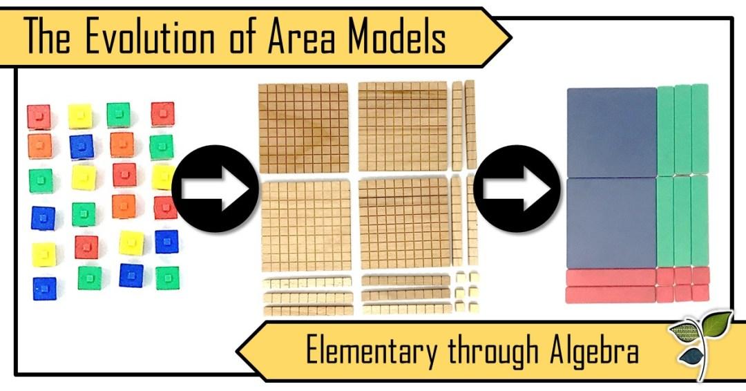 The Evolution of the Area Model: Elementary through Algebra   Leaf ...