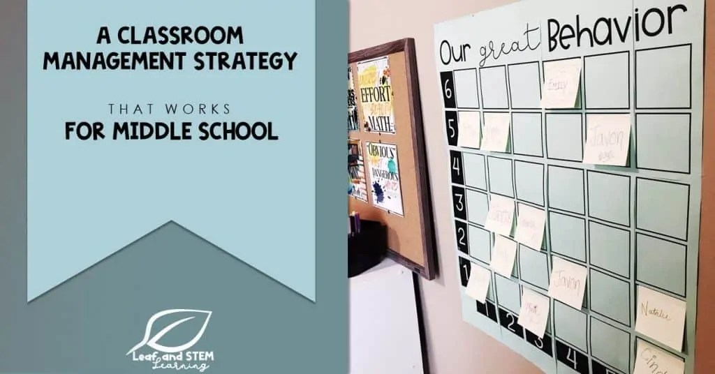 A Classroom Management Strategy that Works for Middle School