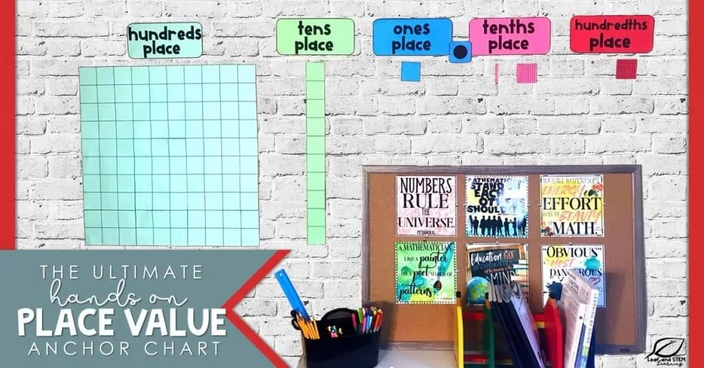 The Ultimate Hands On Place Value Anchor Chart