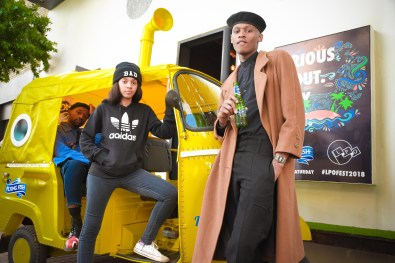 LPO members striking a pose at the Tuk Tuk Photobooth - Flying Fish Save My Saturday Launch[2][1]