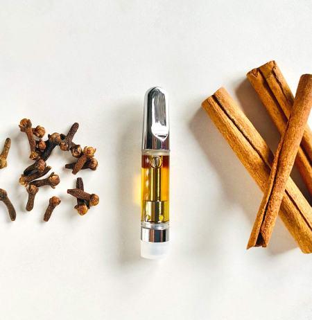 CBD vape cart terpenes cinnamon clove beta-Caryophyllene, Humulene, Myrcene