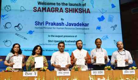 Image result for Ministry of HRD launches 'Samagra Siksha' scheme