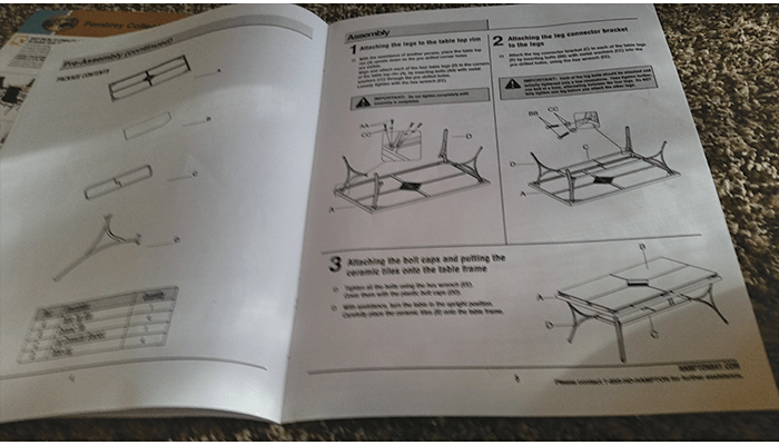 Patio Assembly Instructions