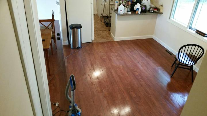 DIY hardwood laminent floors